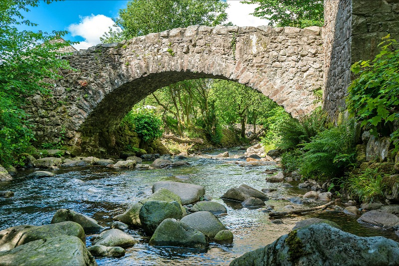 Whillan Beck bridge next to our cottages in Eskdale