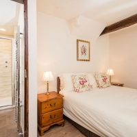 Scafell Cottage Downstairs Double Bedroom with ensuite bathroom