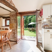 Scafell Cottage Brand New Kitchen & Entrance to our Riverside Gardens