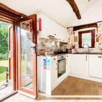 Scafell Cottage Brand New Kitchen and Entrance to Riverside Gardens