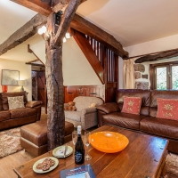 Scafell spacious Lounge with Italian Leather Sofas